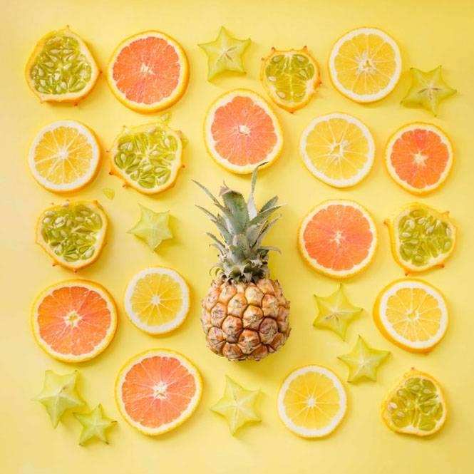 fruits citrus fruits lemons pineapple