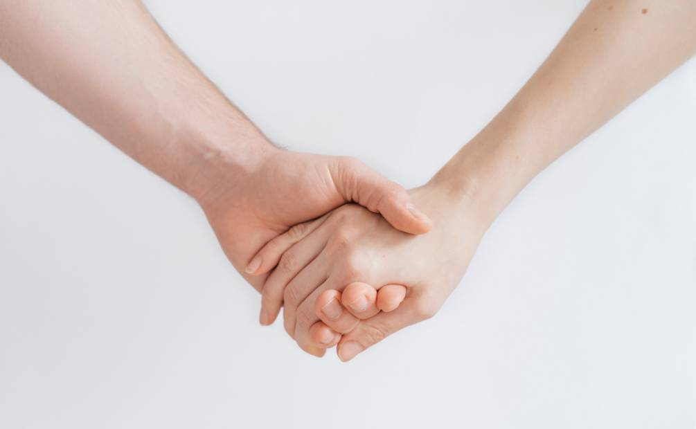 A handshake to show support