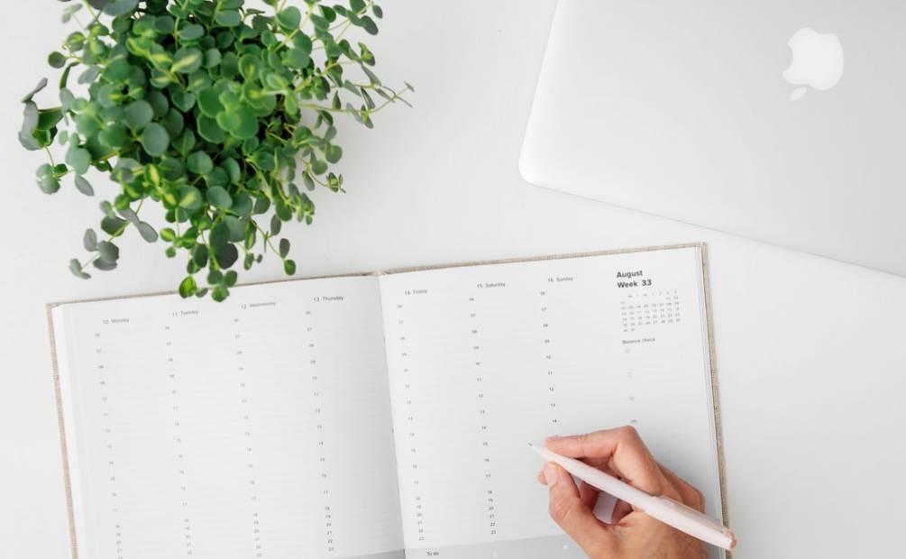 organizer on a desk