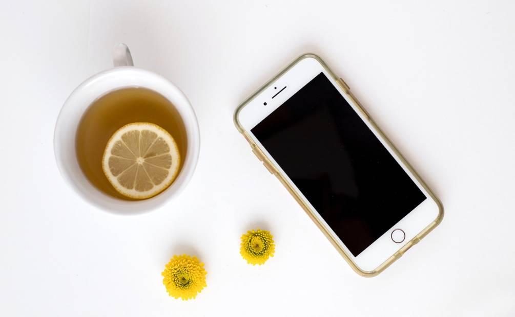 Iphone with mug