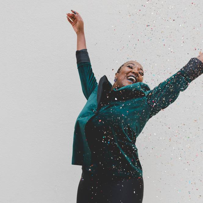 Woman happy to be free