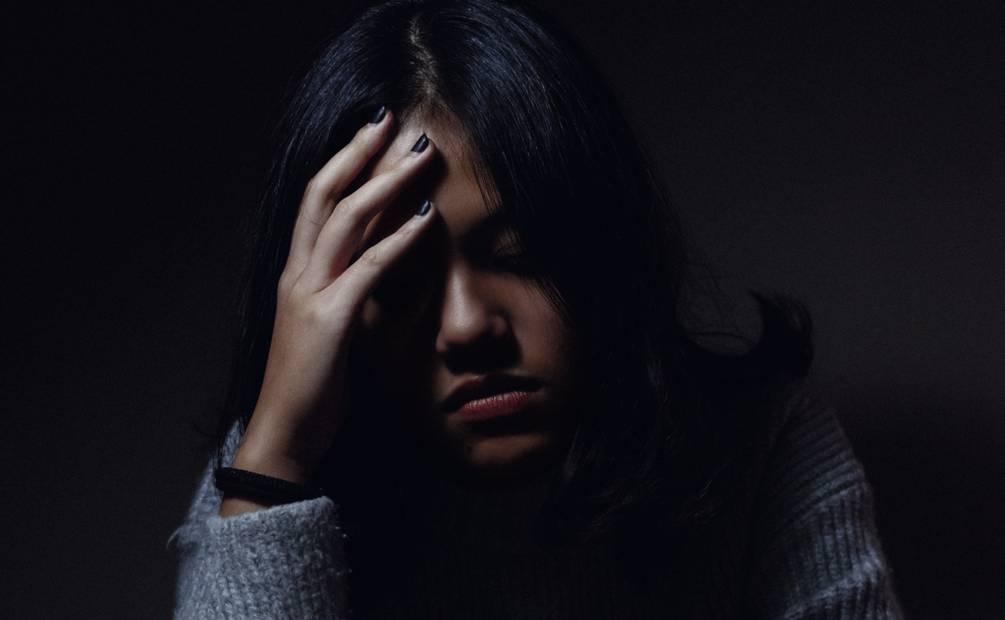 une femme déprime