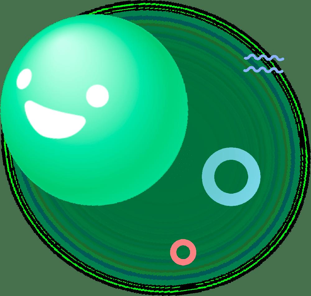Smiley vert Kwit