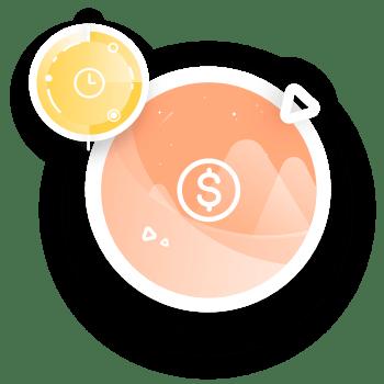 Icônes temps et argent