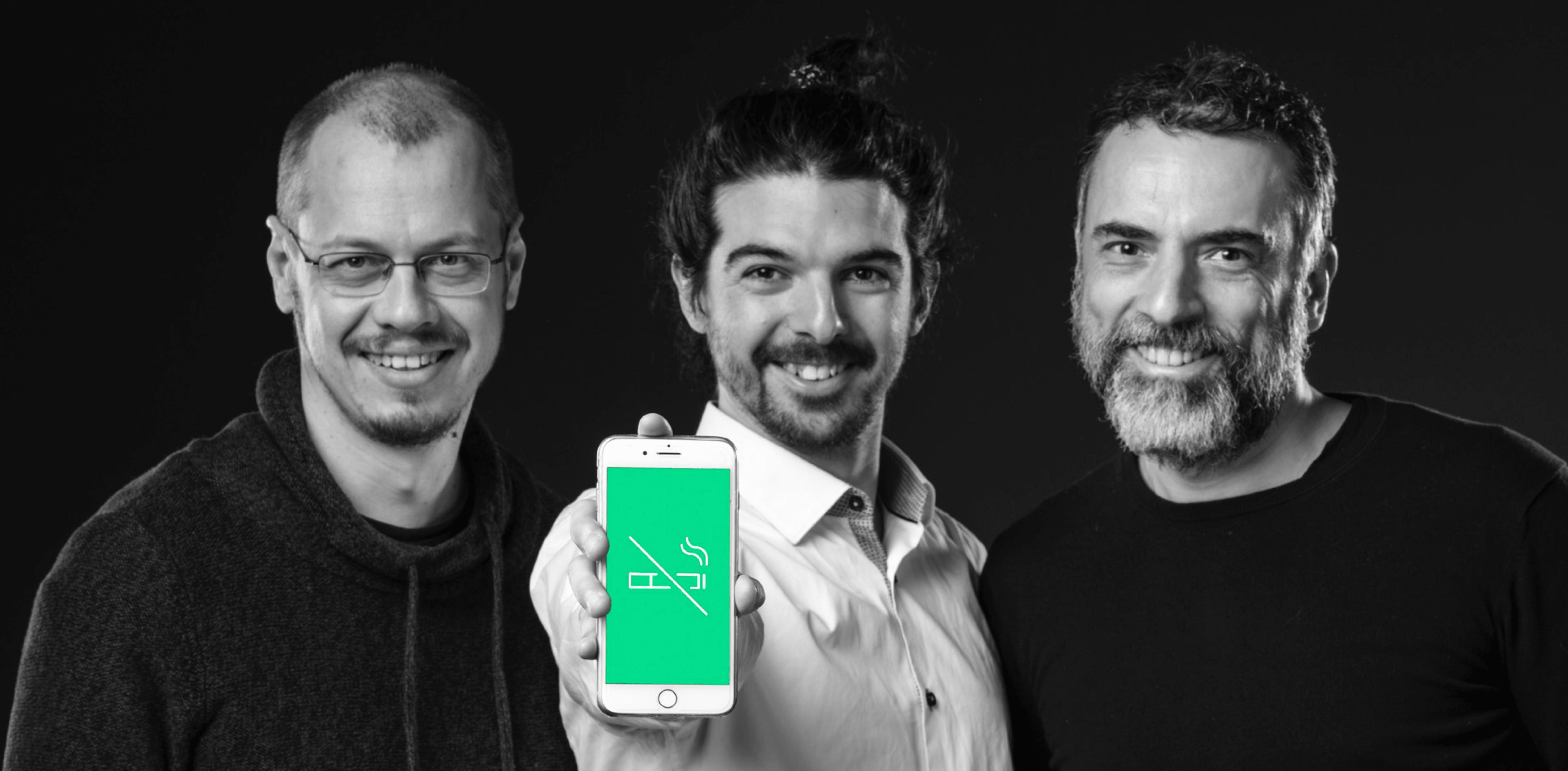 Les trois fondateurs de Kwit