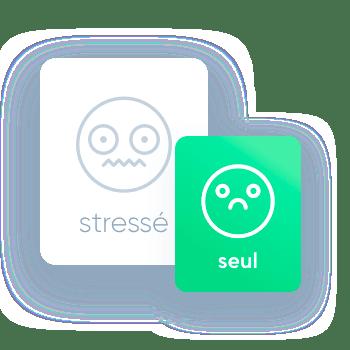 Smiley stressé et seul