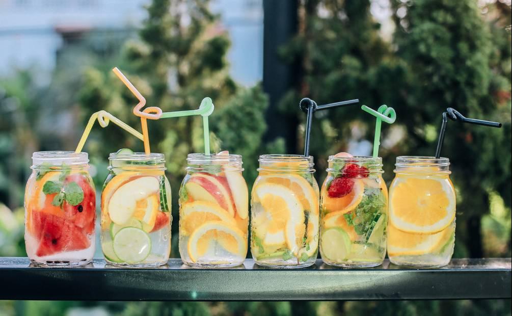 six fruit juices